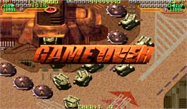 Game Over Screen for Mars Matrix: Hyper Solid Shooting.
