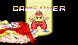 Game Over Screen for Martial Champion.