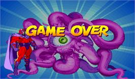 Game Over Screen for Marvel Super Heroes.