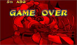 Game Over Screen for Marvel Vs. Capcom: Clash of Super Heroes.