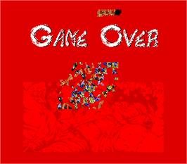 Game Over Screen for Master Ninja.