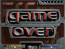 Game Over Screen for Maximum Force.