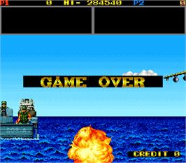 Game Over Screen for Mechanized Attack.