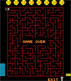 Game Over Screen for Merlins Money Maze.