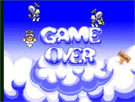 Game Over Screen for Metal Saver.