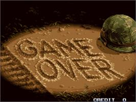 Game Over Screen for Metal Slug 2 - Super Vehicle-001/II.