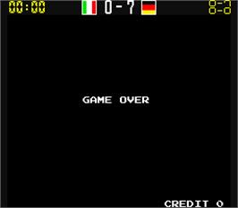 Game Over Screen for Mexico 86.