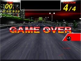 Game Over Screen for Midnight Run.