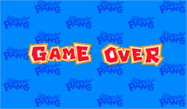 Game Over Screen for Mighty! Pang.