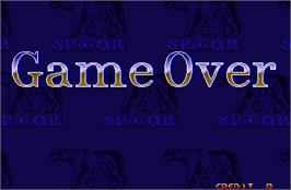 Game Over Screen for Mighty Warriors.