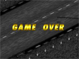 Game Over Screen for Mille Miglia 2: Great 1000 Miles Rally.
