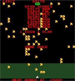 Game Over Screen for Millipede.