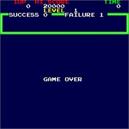 Game Over Screen for Minky Monkey.