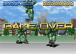 Game Over Screen for Mobil Suit Gundam Final Shooting.
