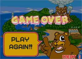 Game Over Screen for Monkey Mole Panic.