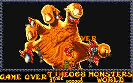 Game Over Screen for Monsters World.