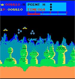 Game Over Screen for Moon Patrol.