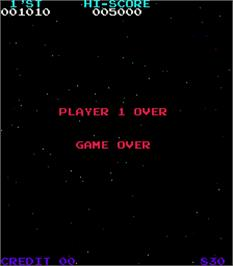 Game Over Screen for Moon Quasar.