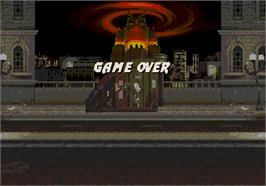 Game Over Screen for Mortal Kombat 3.