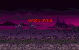 Game Over Screen for Mortal Kombat II.