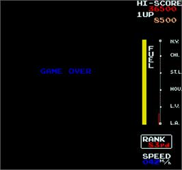 Game Over Screen for MotoRace USA.