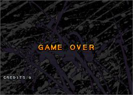 Game Over Screen for Moto Frenzy.