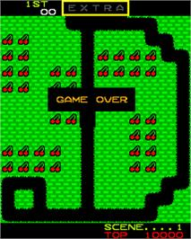 Game Over Screen for Mr. Do!.