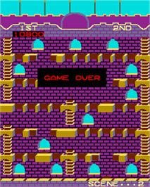 Game Over Screen for Mr. Do's Castle.