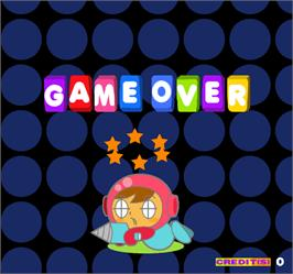 Game Over Screen for Mr. Driller.