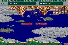 Game Over Screen for Mr. HELI no Dai-Bouken.