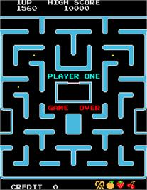Game Over Screen for Ms. Pac-Man/Galaga - 20th Anniversary Class of 1981 Reunion.