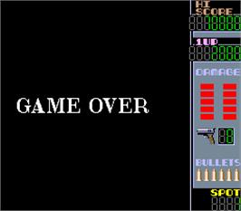 Game Over Screen for N.Y. Captor.