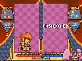 Game Over Screen for Naname de Magic!.
