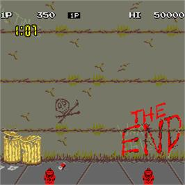 Game Over Screen for Nekketsu Kouha Kunio-kun.