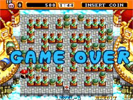 Game Over Screen for Neo Bomberman.