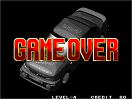 Game Over Screen for Neo Drift Out - New Technology.