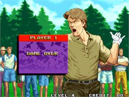 Game Over Screen for Neo Turf Masters / Big Tournament Golf.