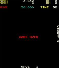 Game Over Screen for Nibbler.