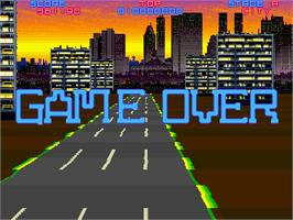 Game Over Screen for Night Striker.