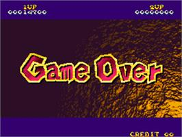 Game Over Screen for Nightmare in the Dark.