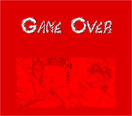 Game Over Screen for Ninja Ryukenden.