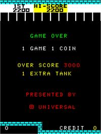 Game Over Screen for No Man's Land.