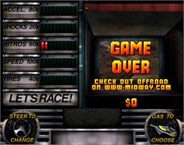 Game Over Screen for Off Road Challenge.