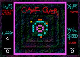 Game Over Screen for Off the Wall.