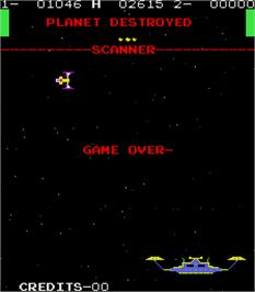 Game Over Screen for Orbitron.