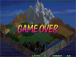 Game Over Screen for Over Top.