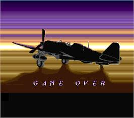 Game Over Screen for P-47 - The Phantom Fighter.