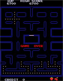 Game Over Screen for Pac-Man.