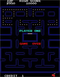 Game Over Screen for Pac-Man - 25th Anniversary Edition.