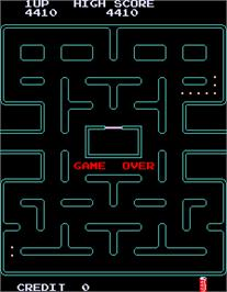 Game Over Screen for Pac-Man Plus.